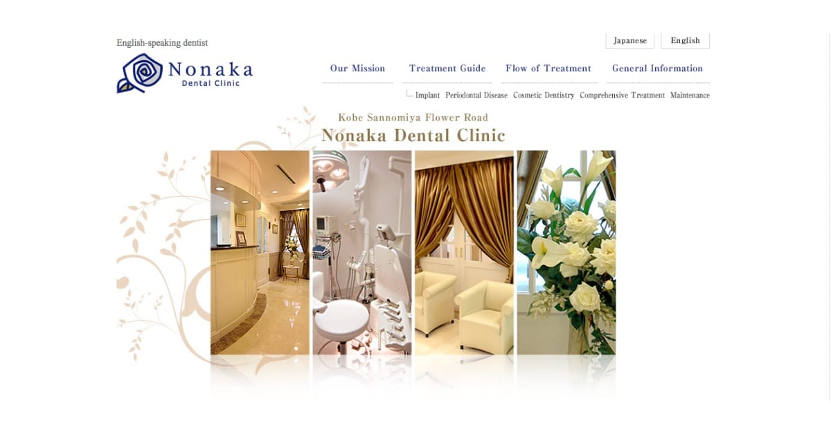 Translate Website from Japanese to English, Nonaka Dental Clinic, Maplopo