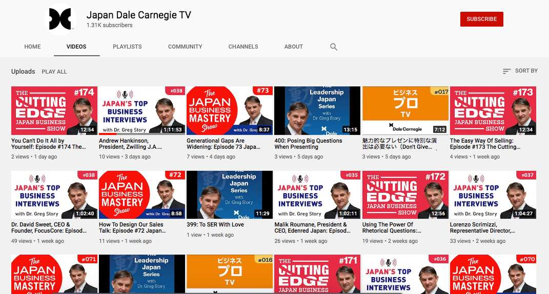 Dale Carnegie Japan TV on YouTube